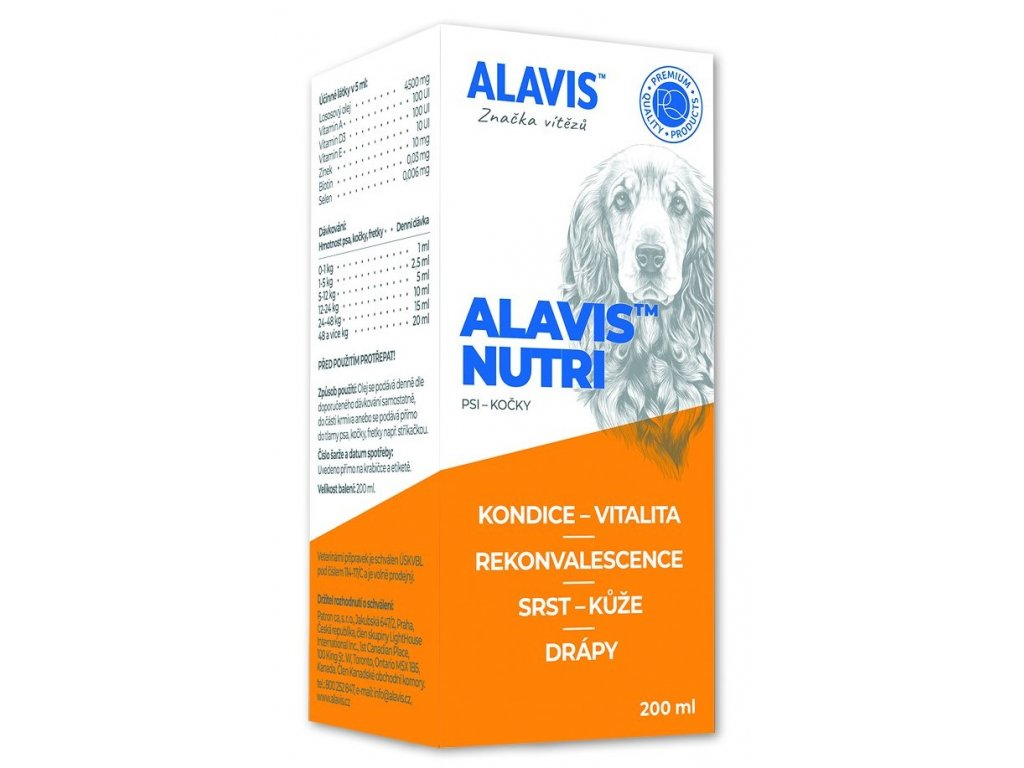 ALAVIS Nutri obohacený lososový olej