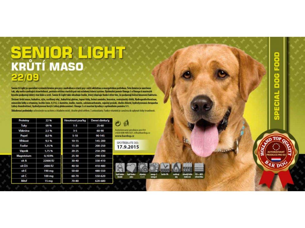 Bardog Senior light 22/09 Super Premium SALE  exp 08/2021