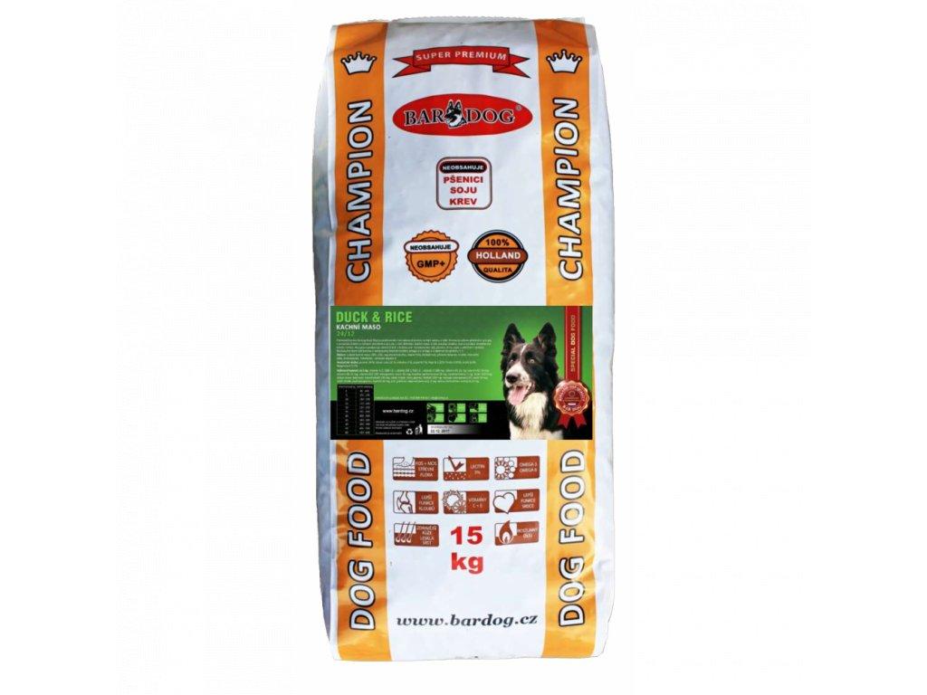 Bardog Duck Rice 24/12 Super prémiové granule SALE  exp 06/2021