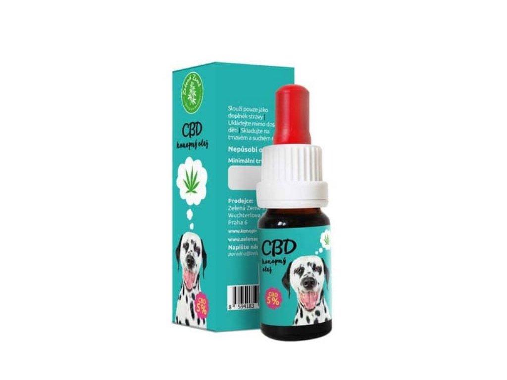 CBD olej pro zvířata 5%, 10 ml 1