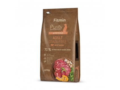 fitmin dog purity gf adult beef 12 kg h L