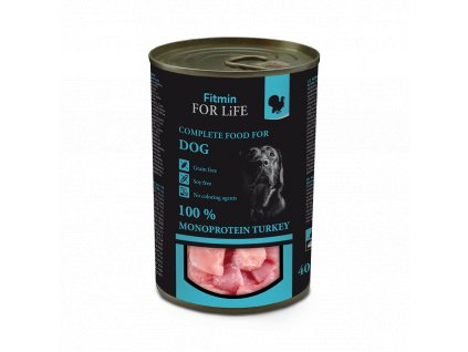 FFL dog tin turkey 400 g