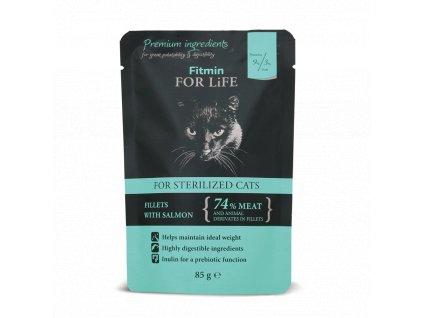 FFL cat pouch sterilized salmon 85g