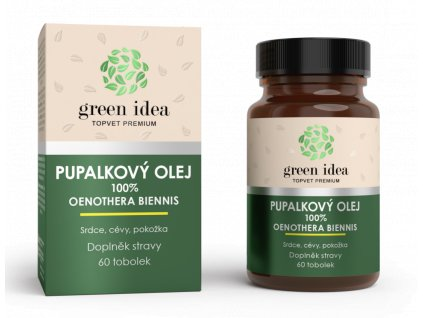 Topvet Pupalkový olej 60 kapslí pro hormonální rovnováhu a zdravou pleť
