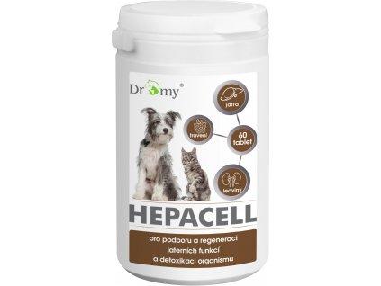 Dromy Hepacell pro podporu a regeneraci jaterních funkcí a detoxikaci organismu