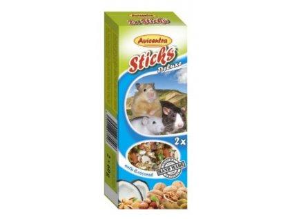 Avicentra tycinky s orechy a kokosem pro male hlodavce 2 ks