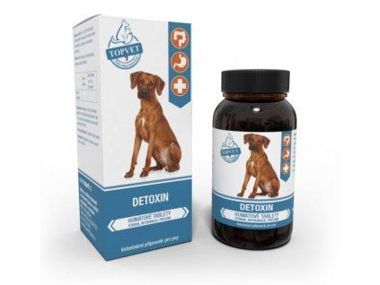 Topvet detoxin humátové tablety pro psy řešení průjmu