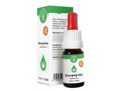 Zelená Země CBD konopný olej 5% 10 ml