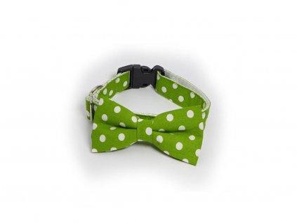 Little cord obojek s maslickou zeleny s puntiky L