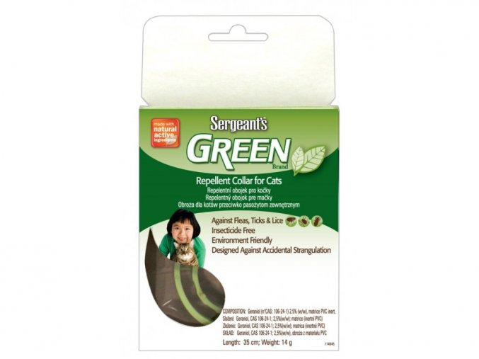 Green Repellent Cat Collar 35 cm
