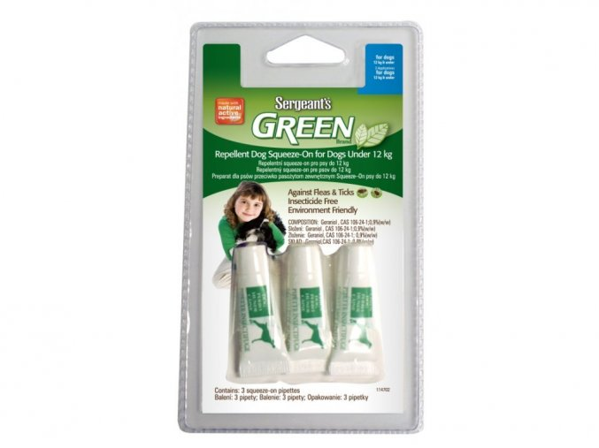 Green Brand Repellent Dog Squeeze-On pro psy do 12 kg
