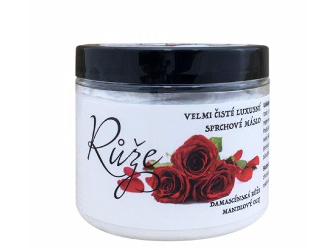 Růže přírodní sprchové máslo 200 ml