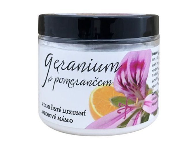 2556 geranium s pomerancem prirodni sprchove maslo 200 ml