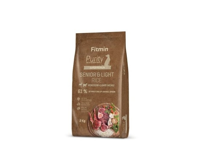 Fitmin dog Purity Rice Senior&Light Venison&Lamb