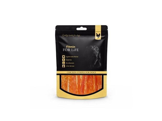 FFL dog treat chicken stripes 70g