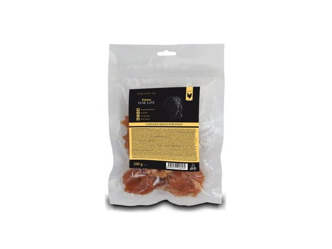 FFL dog treat chicken rings 200g