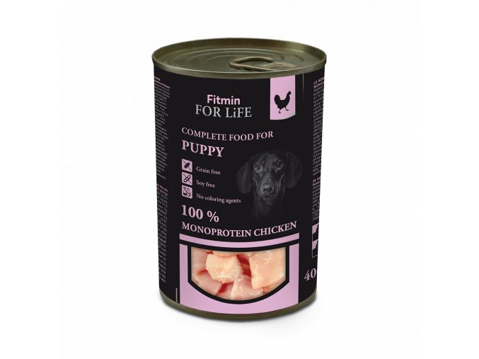 FFL dog tin puppy chicken 400 g