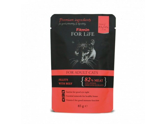 FFL cat pouch adult beef 85g