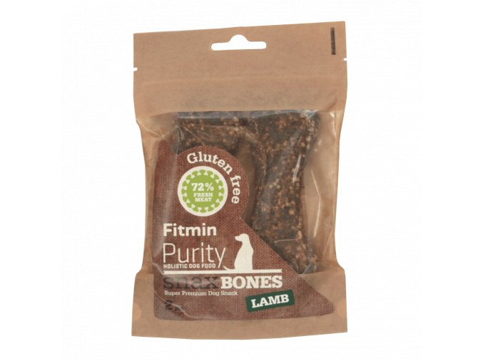 Fitmin dog Purity Snax BONES lamb 2ks