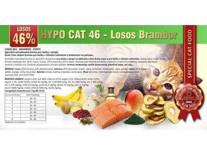 Bardog Hypo Cat 46 pro kočky losos brambor