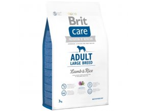brit care dog adult large breed lamb rice 3kg ie1540051