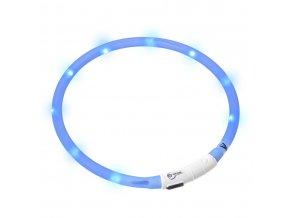 LED světelný obojek modrý obvod 20-75cm