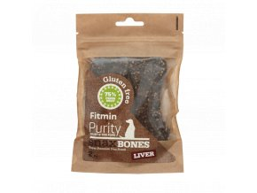 Fitmin dog Purity Snax BONES liver 2ks