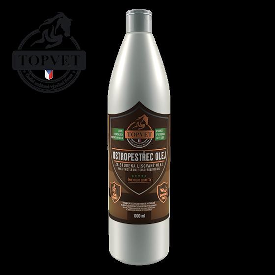 Topvet Ostropestřec olej pro koně 1000 ml