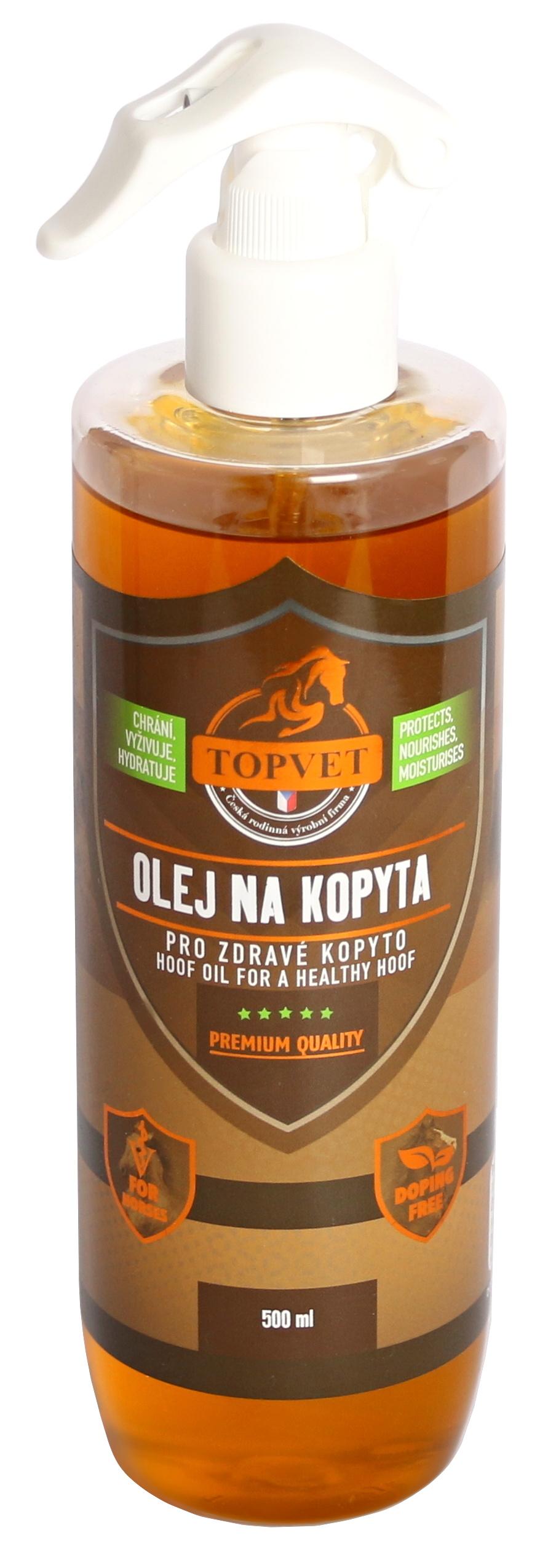 Topvet Olej na kopyta - pro zdravé kopyto 500ml