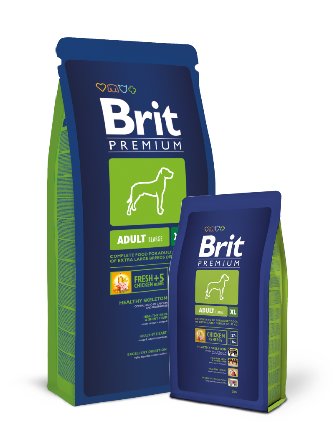 Brit Premium Adult XL balení: Brit Premium Adult XL 15kg