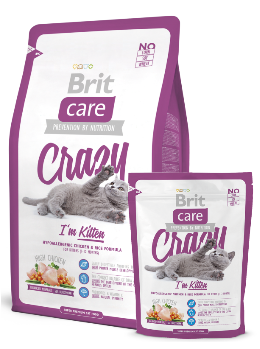 Brit Care Cat Crazy I'm Kitten balení: Brit Care Cat Crazy I'm Kitten 2kg