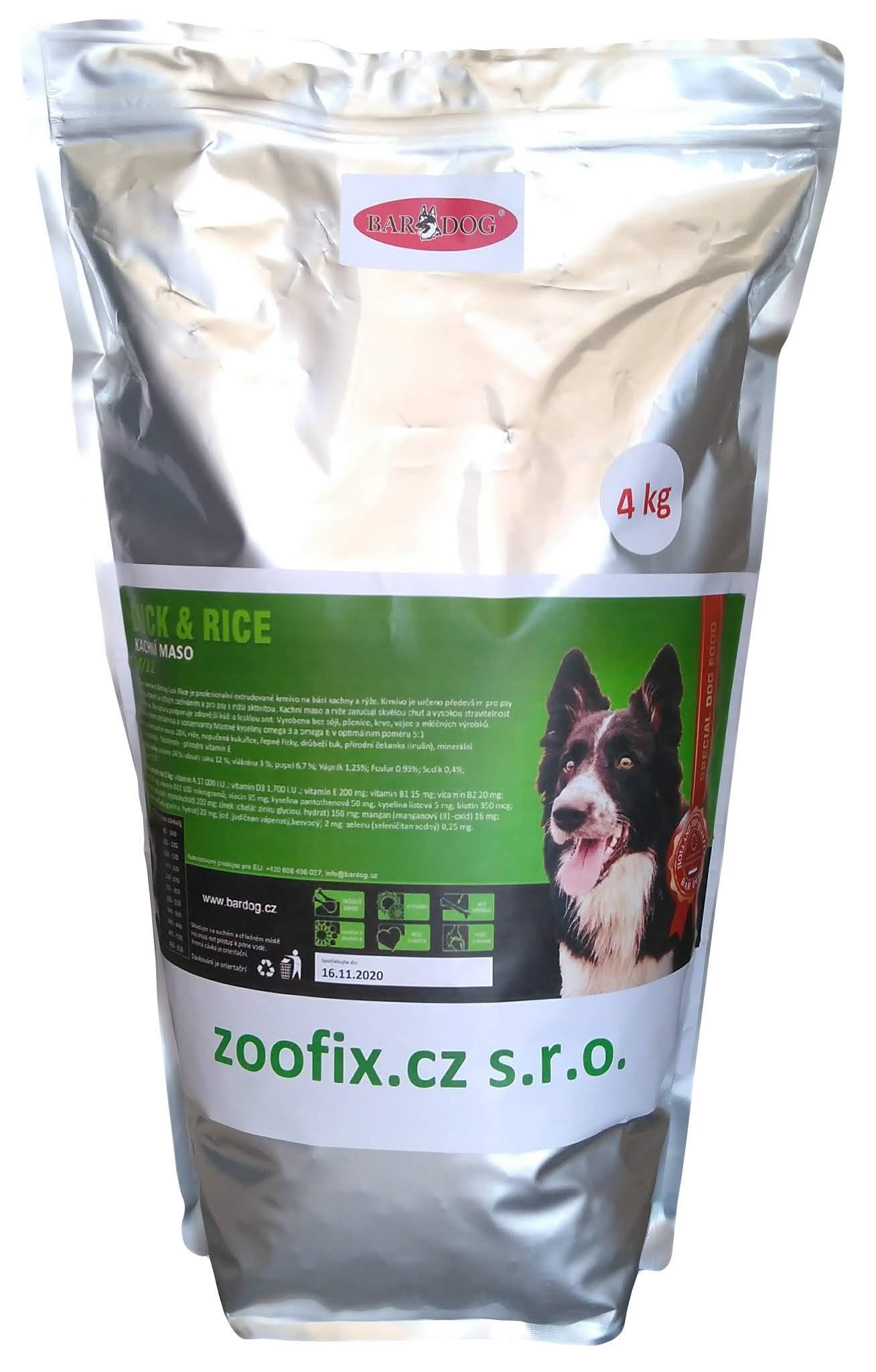 Bardog Super prémiové granule Duck Rice 24/12 balení: 4 kg