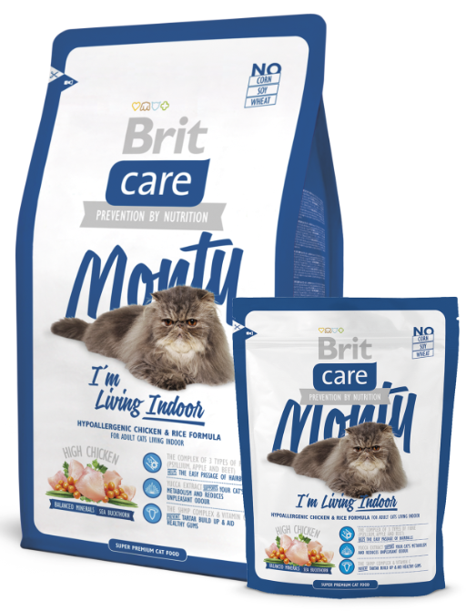 Brit Care Cat Monty I'm Living Indoor balení: Brit Care Cat Monty I'm Living Indoor 400g