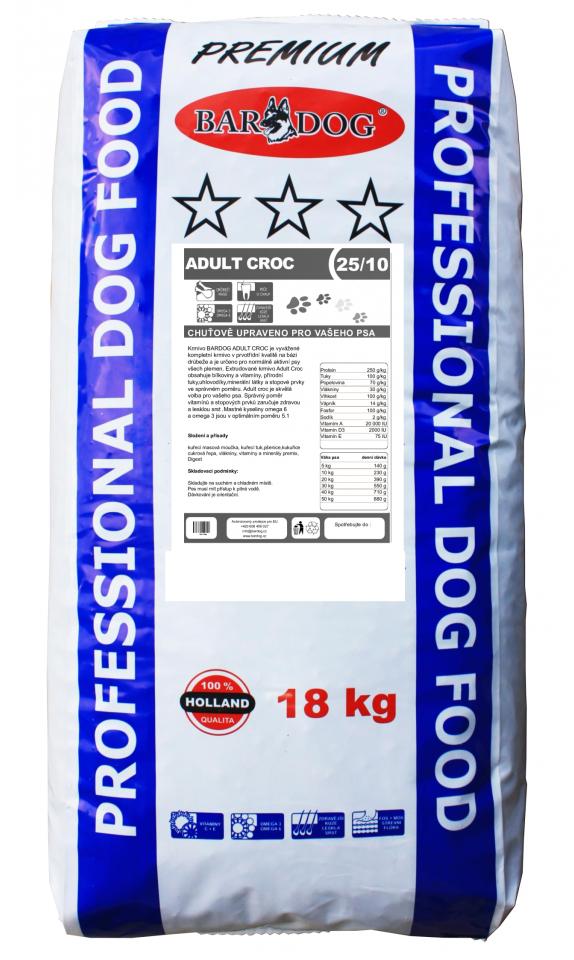 Bardog premium Adult Croc 25/10 balení: 18 kg exp říjen 2021