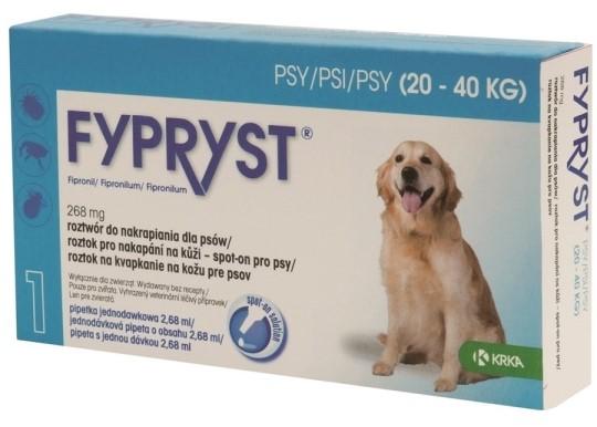 KRKA Fypryst spot on Dog balení: KRKA Fypryst spot on Dog L 20-40kg 1x2,68ml