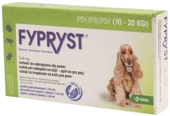 KRKA Fypryst spot on Dog balení: KRKA Fypryst spot on Dog M 10-20kg 1x1,34ml