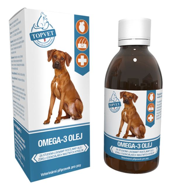 Topvet for pets Topvet Omega-3 olej pro psy 200ml