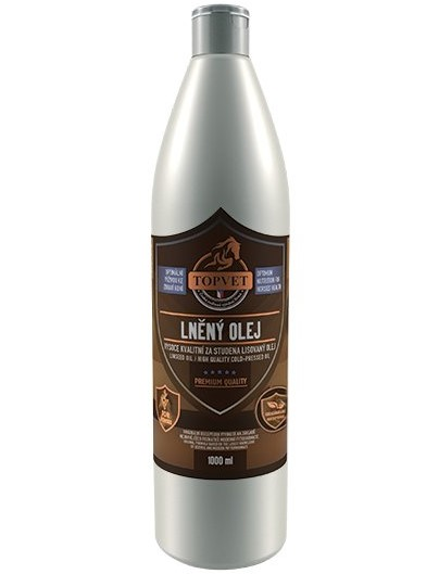 Topvet Lněný olej 1l