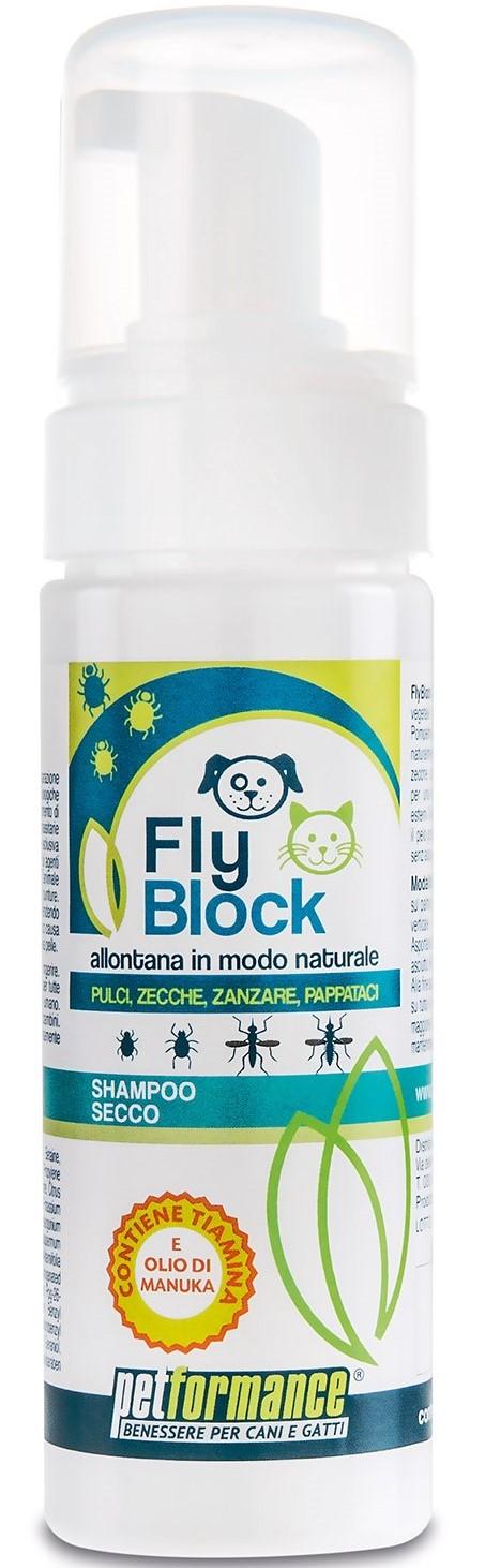 FlyBlock přírodní suchý šampon proti klíšťatům a blechám