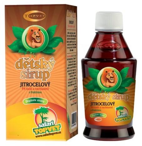 Topvet Jitrocelový dětský sirup s fruktozou 300g