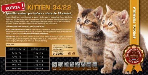 Bardog Kitten 34/22 Super Premium balení: 4 kg