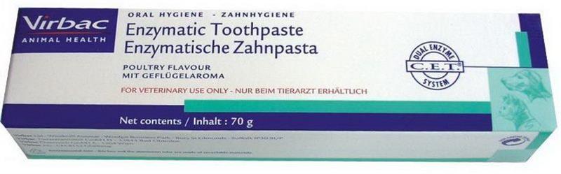 Virbac C.E.T. Zubní pasta enzymatická drůbeží 70g