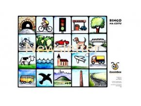 Bingo na cestu barevné vodotisk