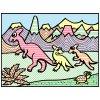Vodnaya raskraska Dinosauri 01