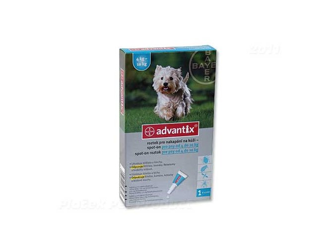 BAYER Advantix Spot-On pro psy 4 - 10 kg (1ml)