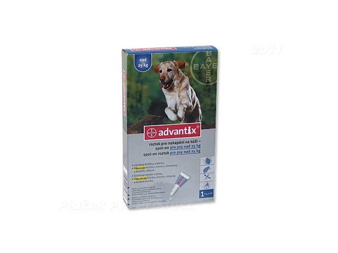 BAYER Advantix Spot-On pro psy nad 25 kg (4ml)