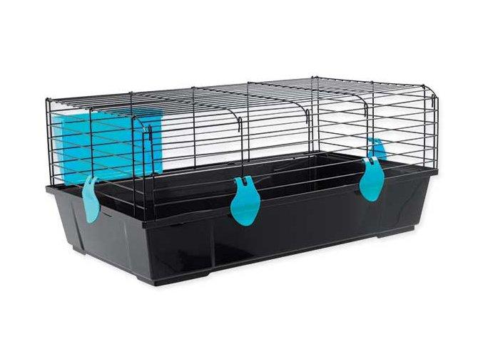 Klec SMALL ANIMAL Matěj černá s modrou výbavou 80