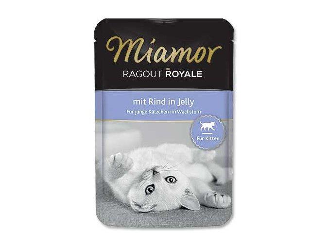 MIAMOR Kapsička Ragout Royale kitten hovězí v želé 100g