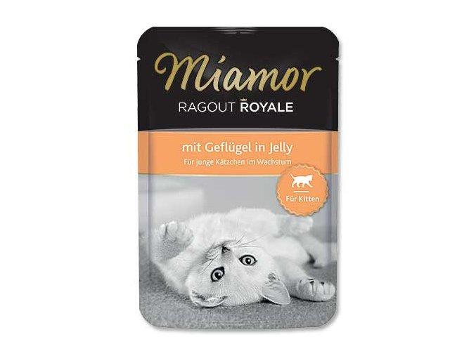 MIAMOR Kapsička Ragout Royale kitten drůbeží v želé 100g