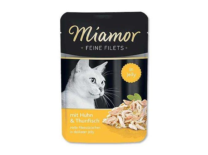 MIAMOR kapsička Filet kuře + tuňák v želé 100g